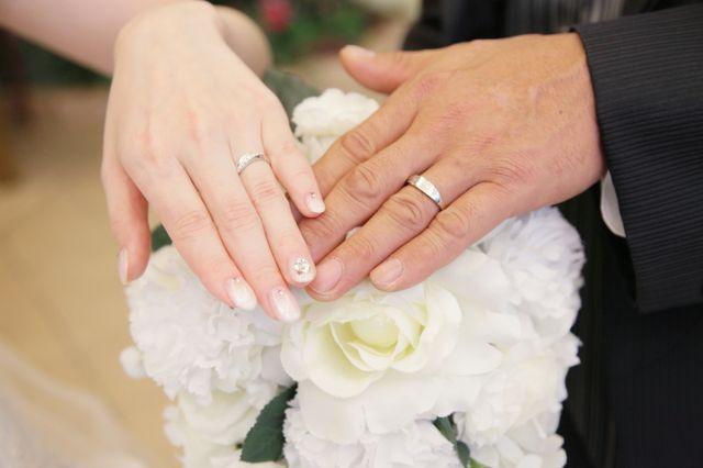 結婚式で撮った写真です。