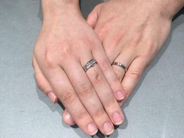 結婚指輪(アナエル)と重ねて着用