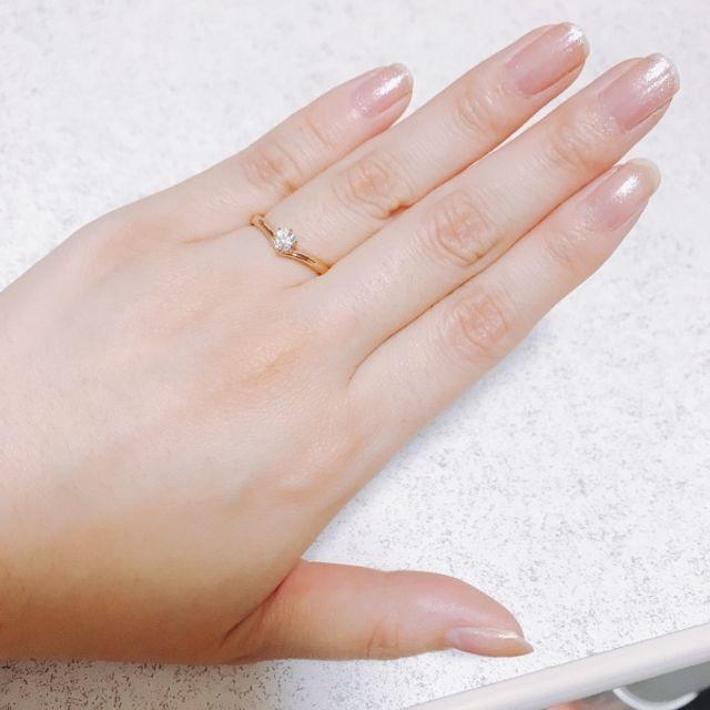 彼から頂いた婚約指輪です(*´꒳`*)
