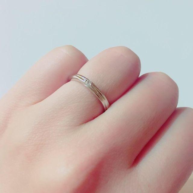 一粒ダイヤでデザインはシンプル