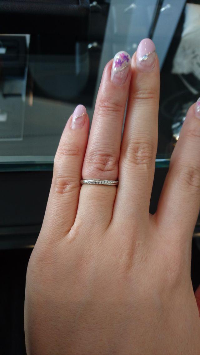 ダイヤモンドがキラキラです。