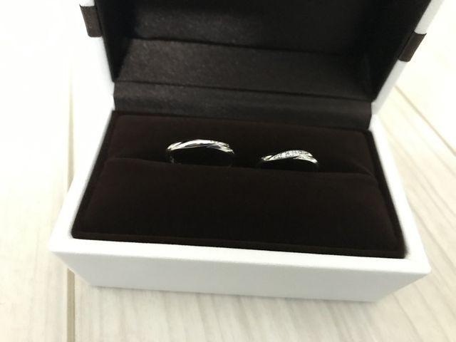 結婚指輪を購入。約1ヶ月で届いた。