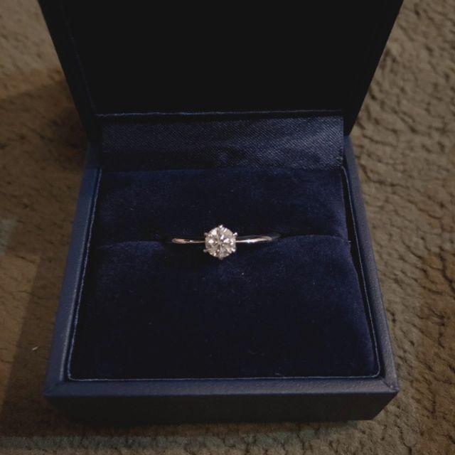 プロポーズをされたときに渡された仮のリングです