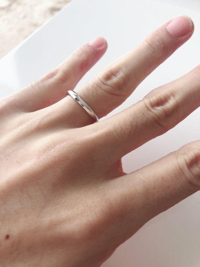 結婚指輪の写真です。