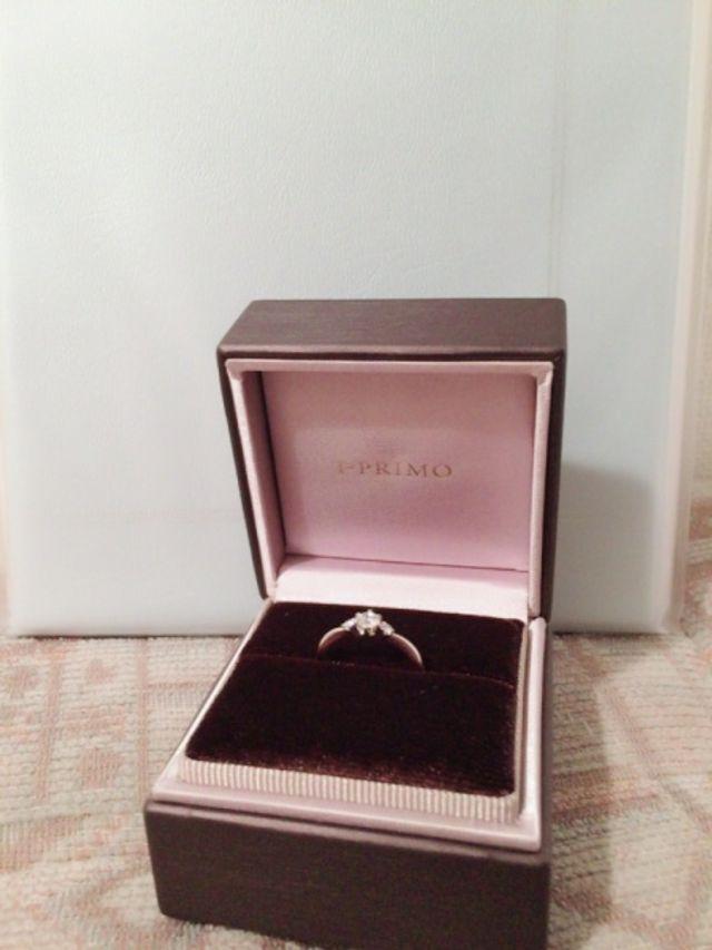 彼からいただいた婚約指輪