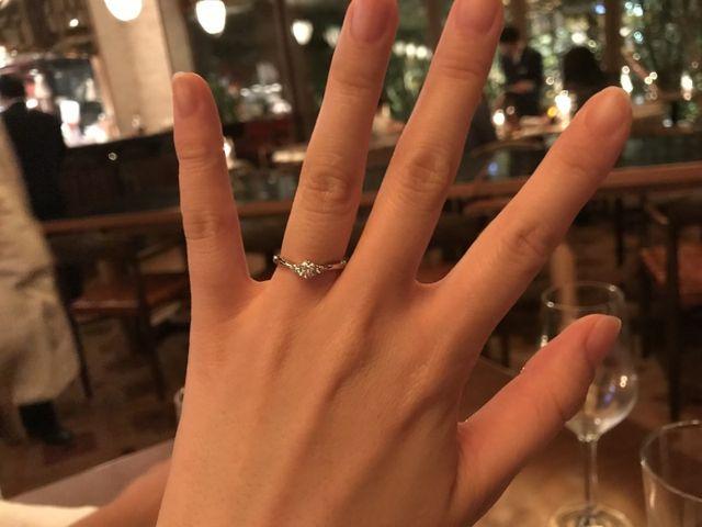 プロポーズしていただいたときに撮った写真です!