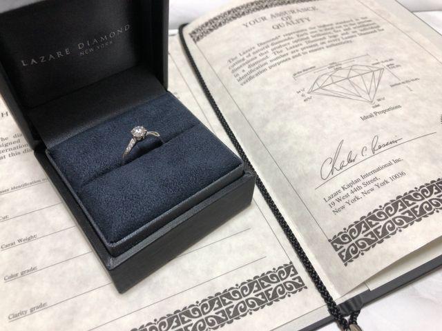 ダイヤモンド証明書と一緒に。クーパーズというデザインです。