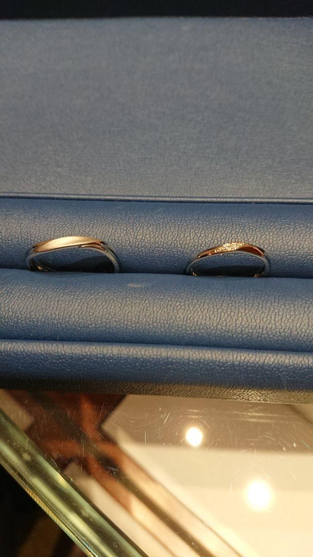 出来上がりの指輪です