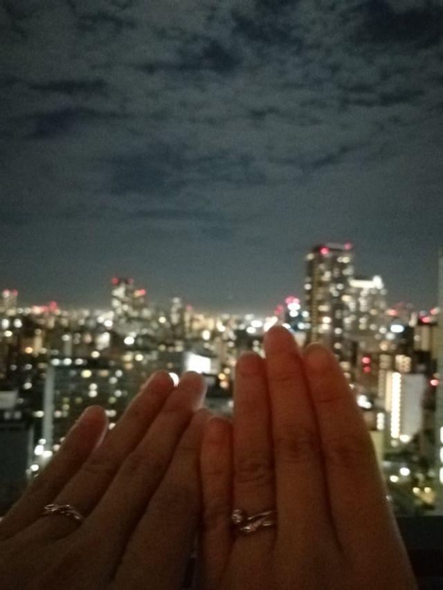 写真は購入後、改めて彼がプロポーズしてくれたときの