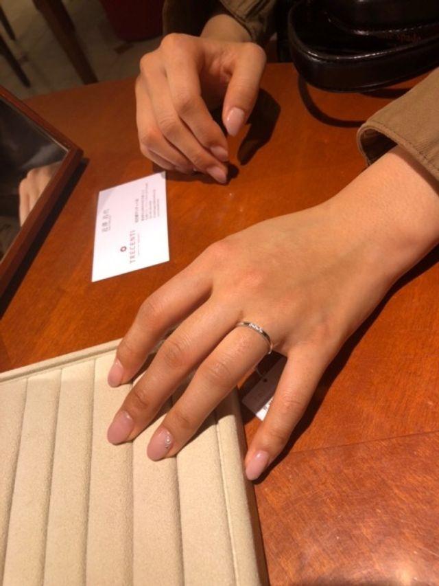 トレセンテの結婚指輪です
