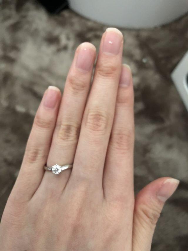 3号なのでダイヤが0.25ctでも大きく見えます。