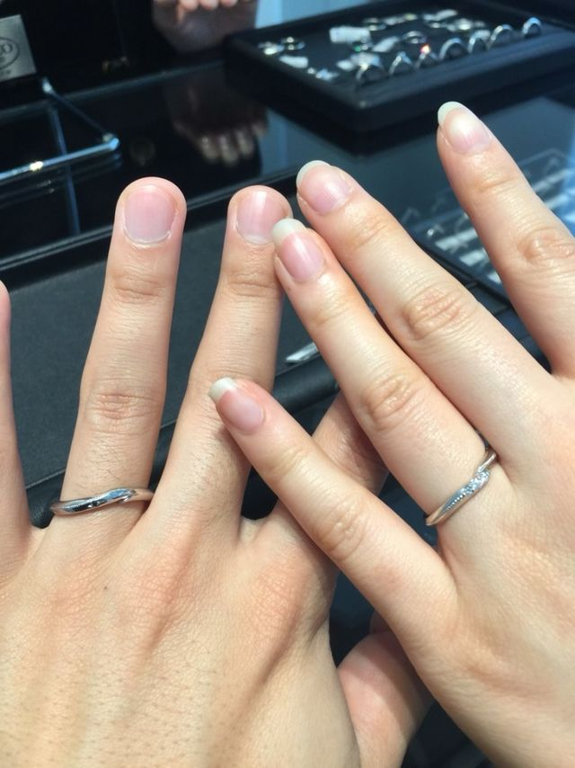 男性の指輪のデザインが豊富でした!