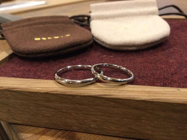 自慢の結婚指輪!