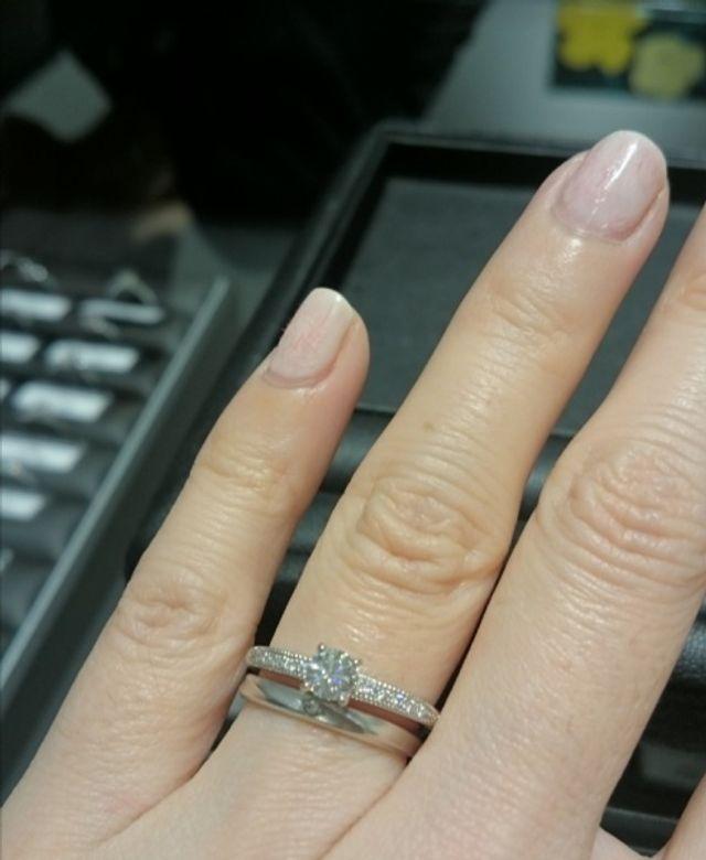 結婚指輪と重ね付け
