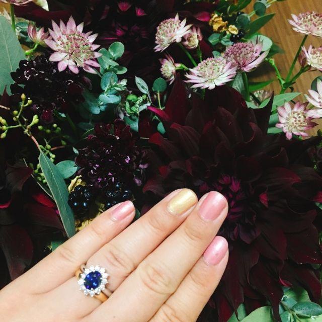 婚約指輪と結婚指輪を重ねづけ出来るようにして頂きました