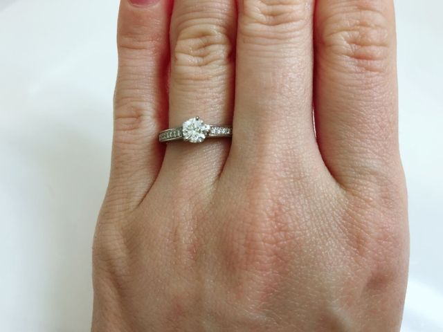 キラキラした指輪が良かった