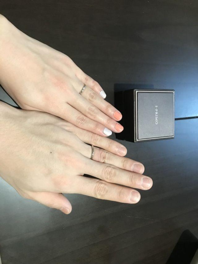 結婚指輪を購入店しました。