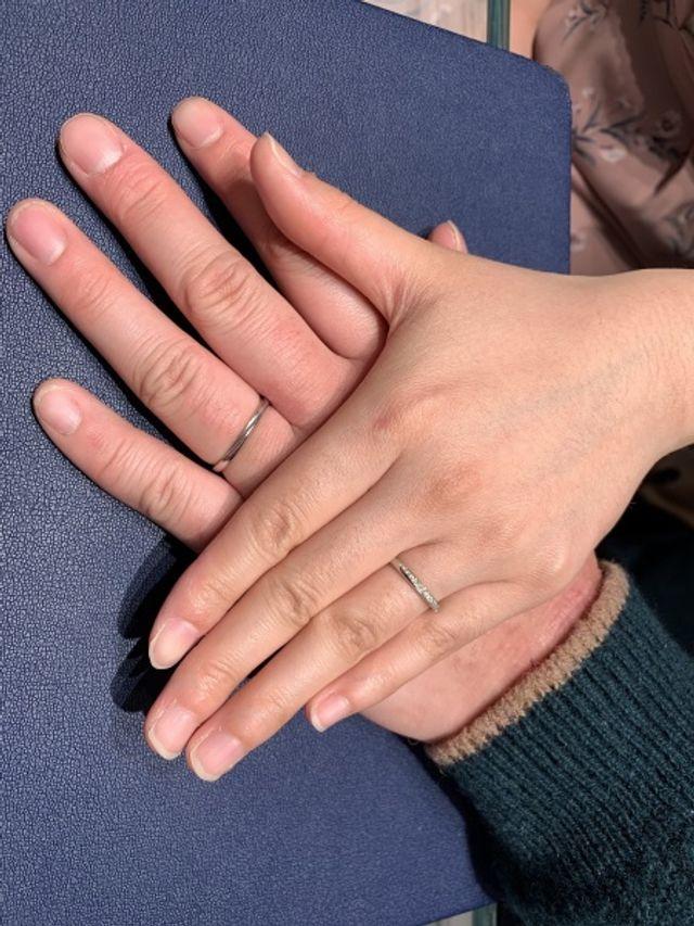 ブーケという結婚指輪です。