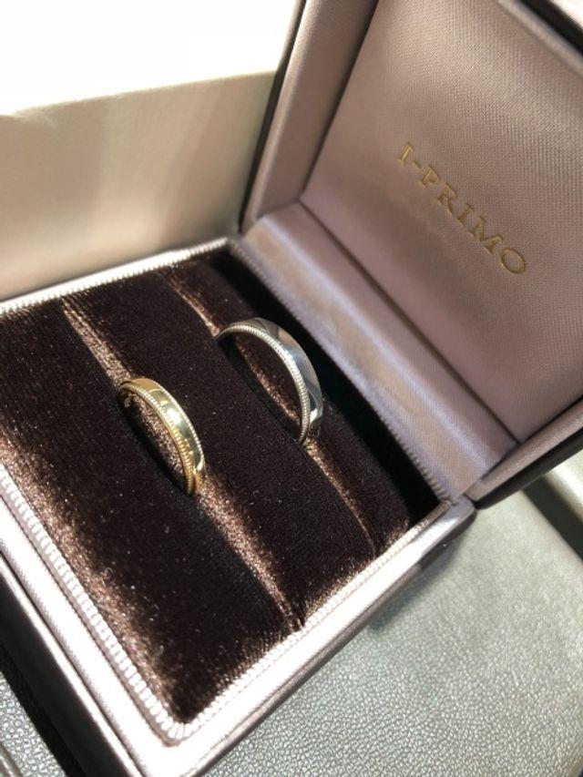 指輪をもらって開いた瞬間。