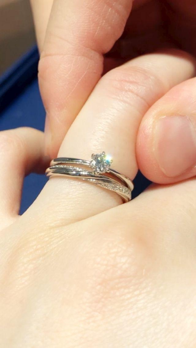 結婚指輪との重ね着け
