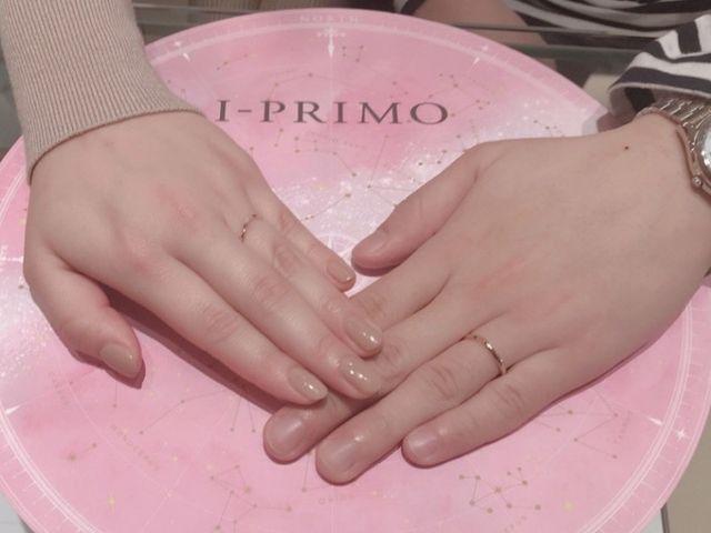 指輪を受け取りに行った際の一枚です(^ ^)