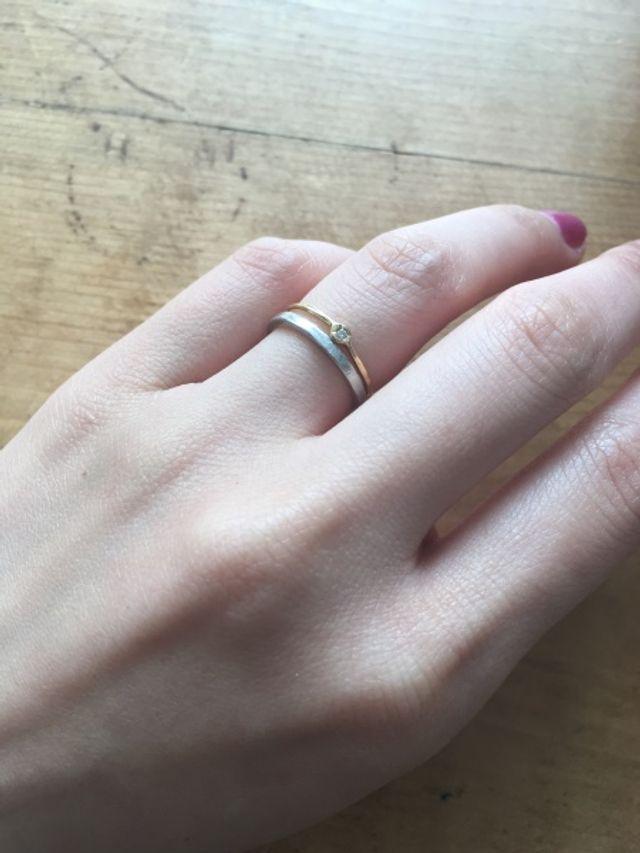 プラチナの指輪です。