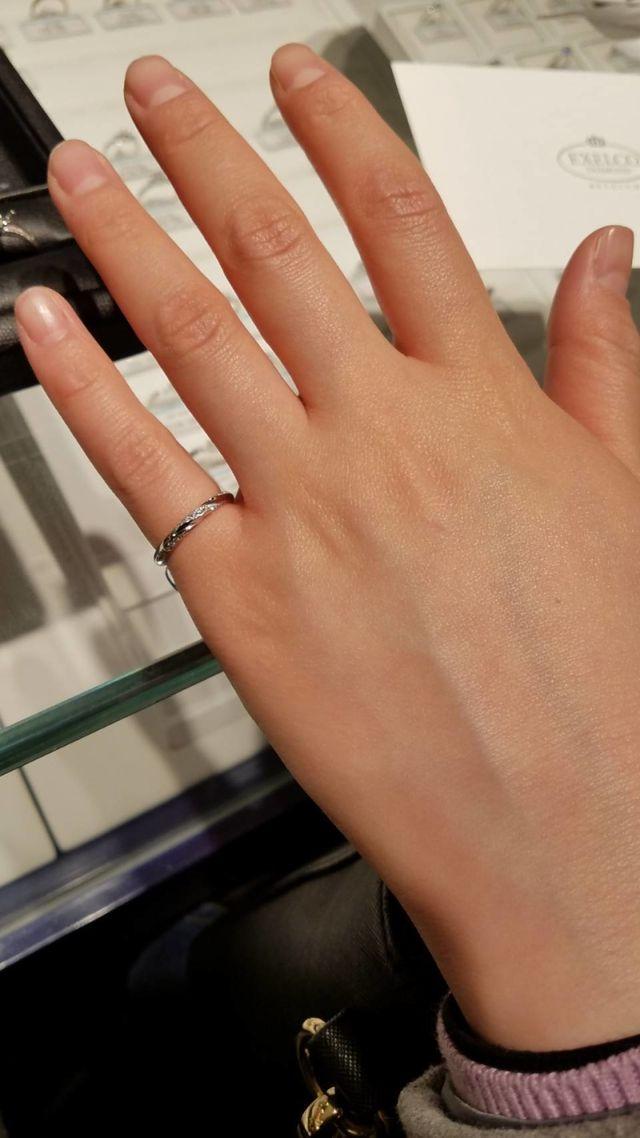 新婦(私)の結婚指輪です。