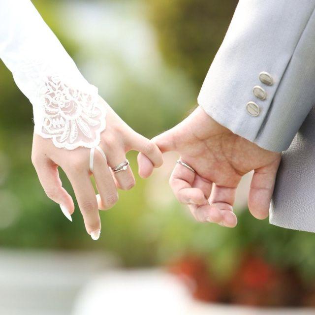 結婚式の写真です。