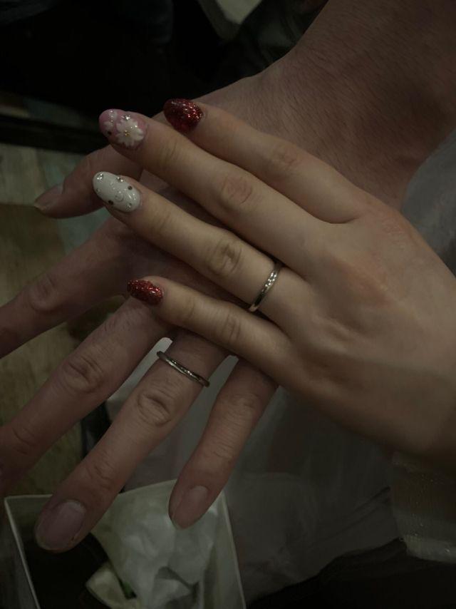 結婚指輪です。デザインがすごく良くて気に入りました。