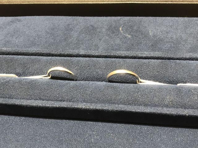 試着した指輪の写真。