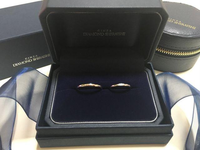 結婚指輪を購入しました。