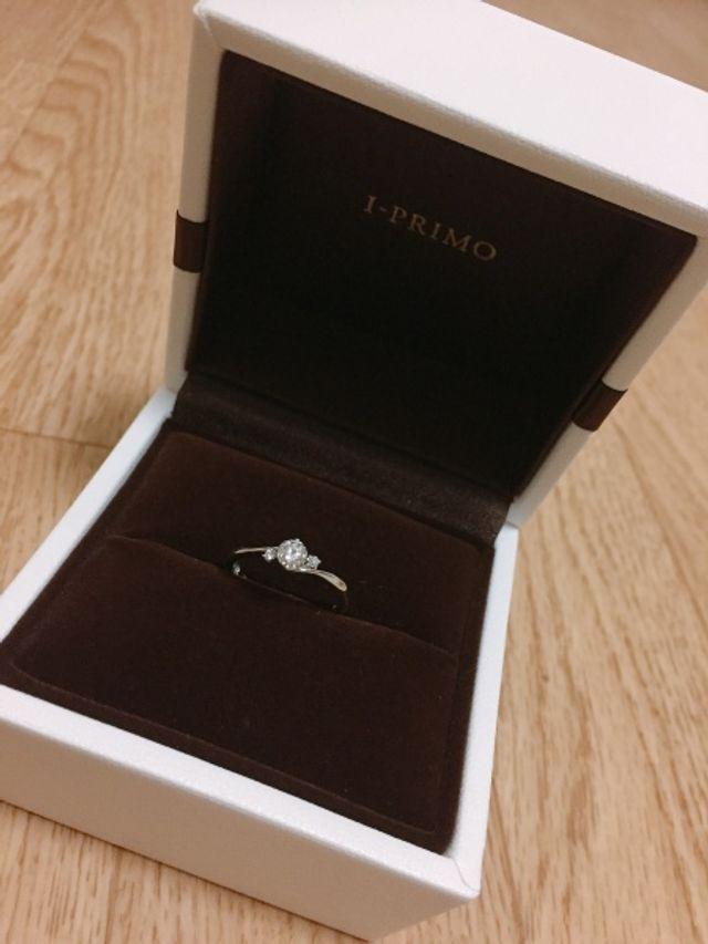 受け取ってきた婚約指輪