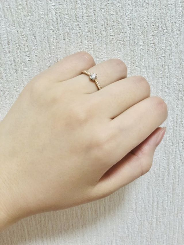 ダイヤモンドの美しさに即決でした
