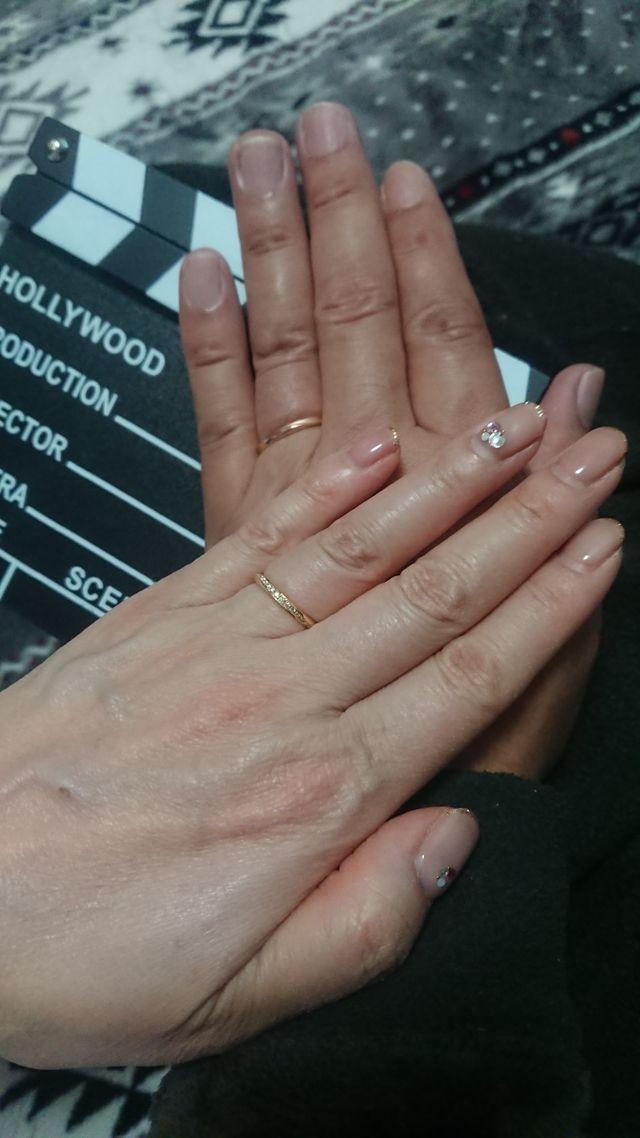 金の結婚指輪がほしかったので大満足です。主人のはPGです。