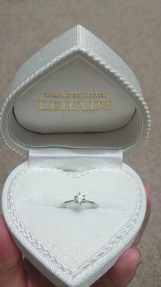 0.5カラットの婚約指輪