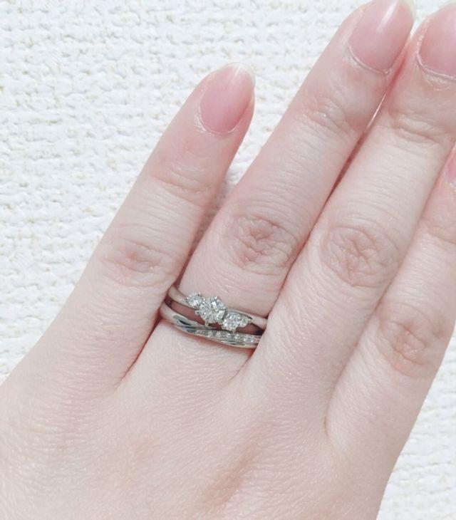 女性用 婚約指輪・結婚指輪 サイズ共に5.5号 同メーカー