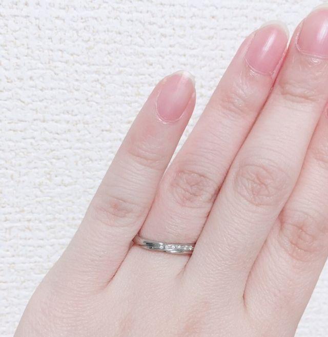 女性用 結婚指輪 サイズ5.5号 刻印文字数15文字