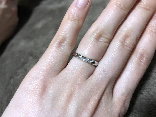 Vラインのダイヤモンドが7つ輝く可愛らしい指輪でした!!!