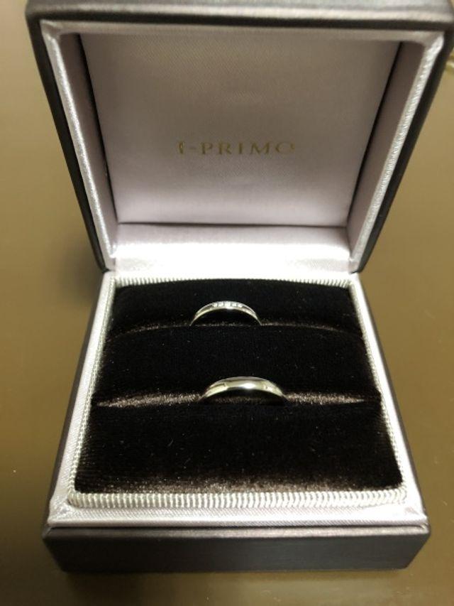 アイプリモの結婚指輪です。