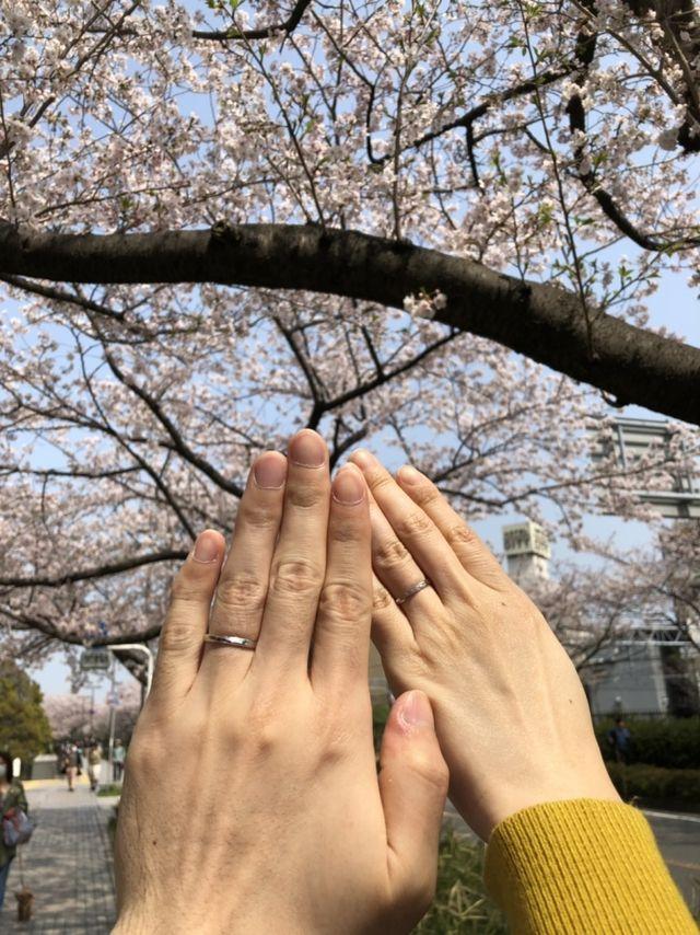 指輪を受け取ってすぐに撮影しました。