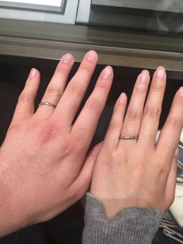 結婚指輪はネレイスを選びました