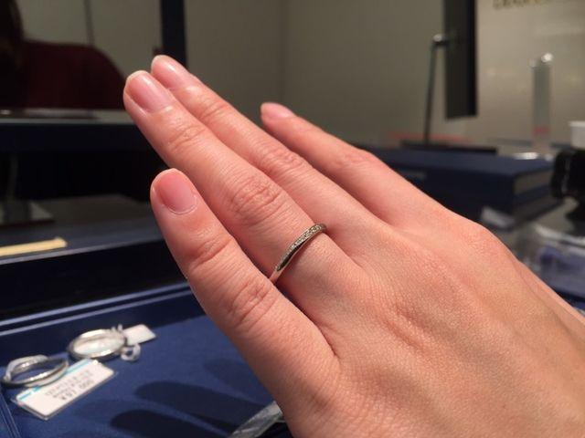 試着した指輪のながで一番気に入って物です。