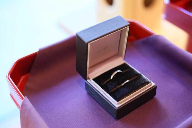 神前式の指輪交換スタイル。三宝とふくさ…相性が最高。わびさび