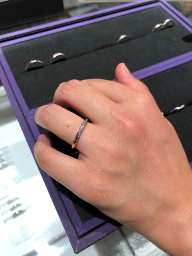 ボックスにある指輪は星の砂シリーズです