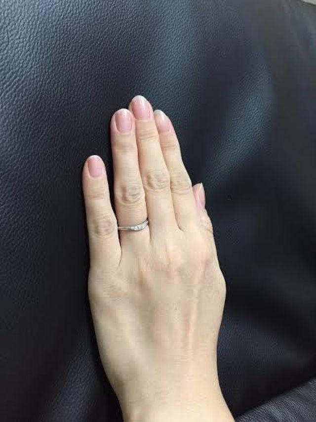 結婚指輪(装着時)