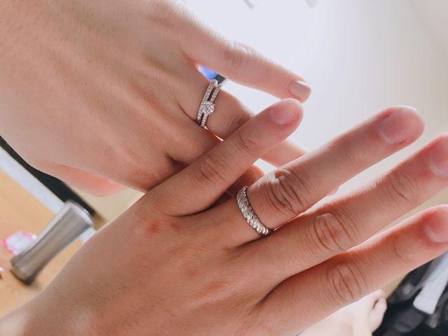 結婚指輪と婚約指輪の組み合わせも大好きです。