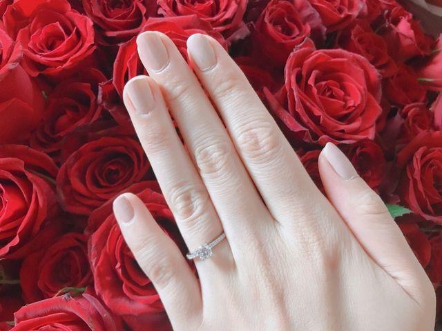 婚約指輪のダイヤはフローレンス0.4ctです。