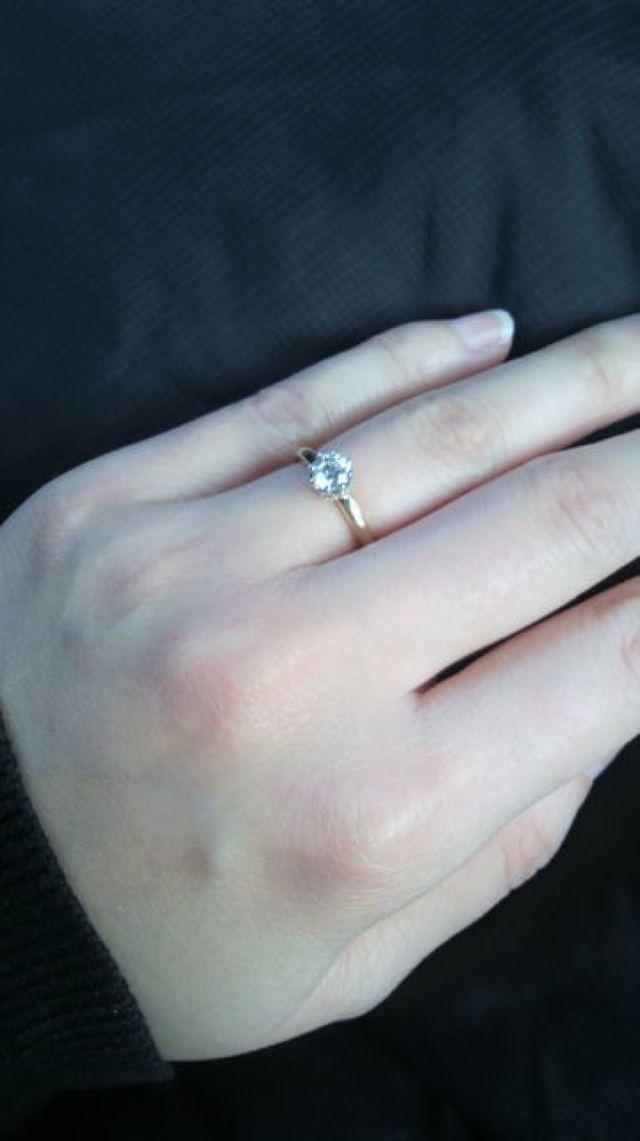 婚約指輪 0.34ct