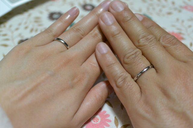 指輪が届いた日の写真です。