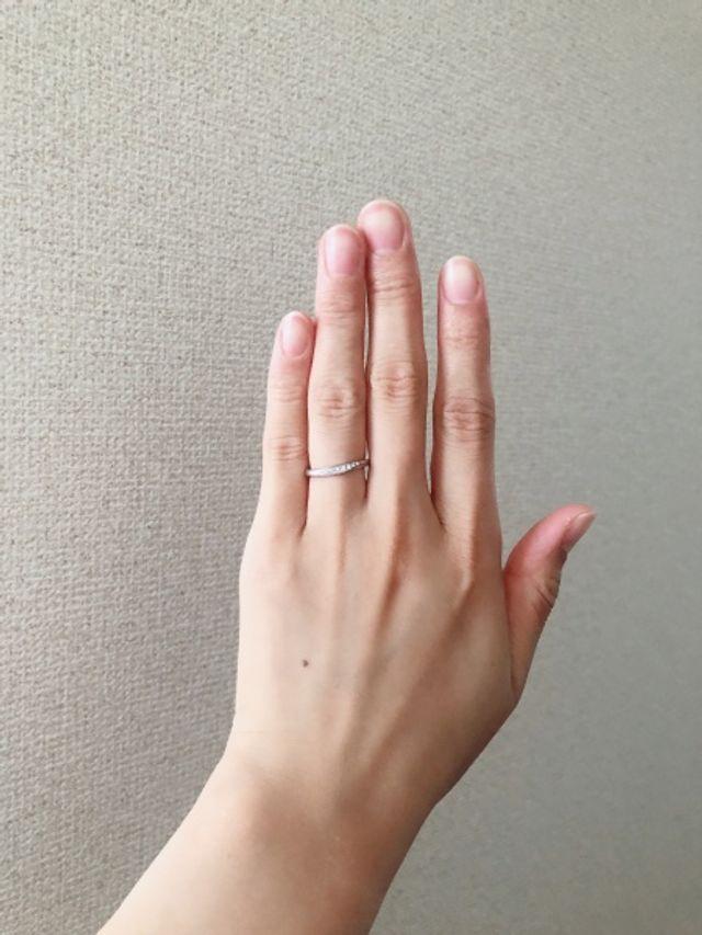 結婚指輪、着用歴約一年半